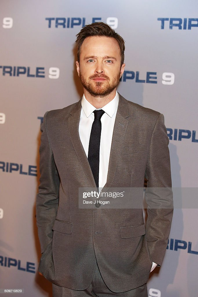 Aaron Paul attends a special screening of 'Triple 9' at Ham Yard Hotel on February 9, 2016 in London, England.
