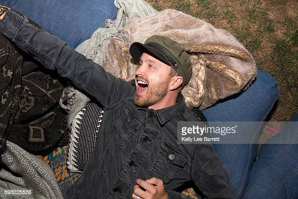 Aaron Paul attends Cinespia's screening of '2001 A Space Odyssey' held at Hollywood Forever on August 20 2016 in Hollywood California