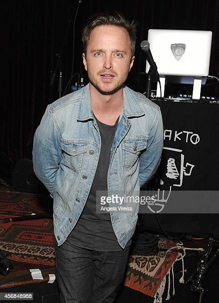 Aaron Paul attends the Balthazar Getty and Spotify present a Night with PurpleHaus Music event on October 7 2014 in Los Angeles California