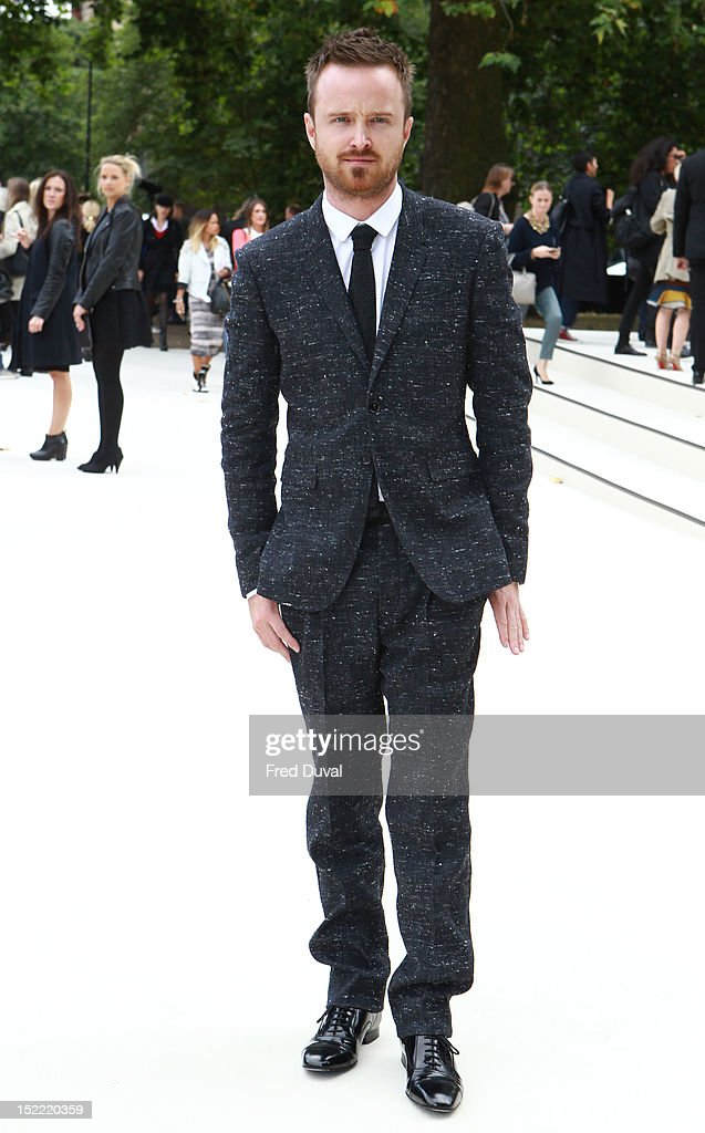 Aaron Paul attends the Burberry Prorsum show on day 4 of London Fashion Week Spring/Summer 2013, on September 17, 2012 in London, England.