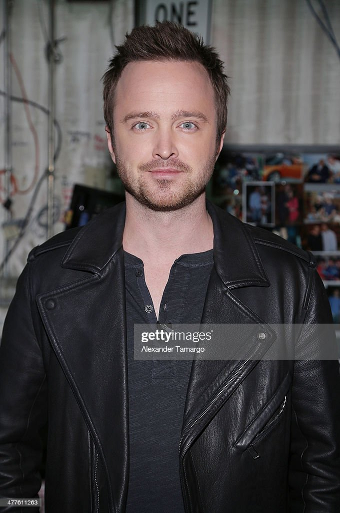 Aaron Paul is seen on the set of Univision's Despierta America morning show to promote the movie 'Need for Speed' at Univision Headquarters on March 10, 2014 in Miami, Florida.