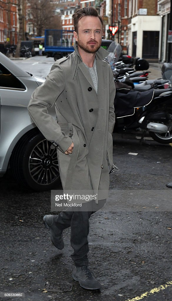 Aaron Paul seen at BBC Radio One on February 10, 2016 in London, England.