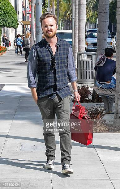 Aaron Paul seen in Beverly Hills on May 29 2015 in Los Angeles California