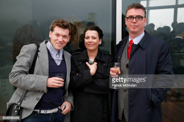 Aaron Peasley Helen Richardson and Neil Rodney attend THE COOPER SQUARE HOTEL MINIBAR EXCLUSIVES UNVEILING at Cooper Square Hotel Penthouse on April...