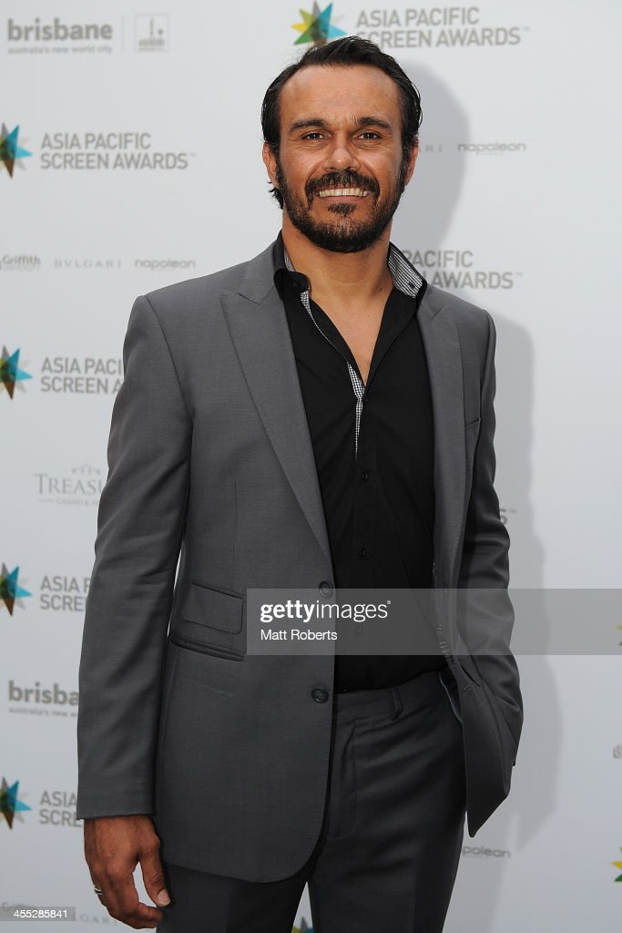 Aaron Pedersen arrives at the Asia Pacific Screen Awards (APSA) at Brisbane City Hall on December 12, 2013 in Brisbane, Australia.