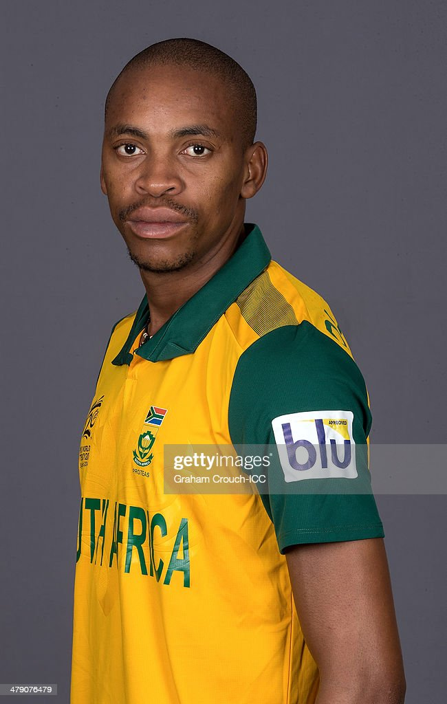 <a gi-track='captionPersonalityLinkClicked' href=/galleries/search?phrase=Aaron+Phangiso&family=editorial&specificpeople=7184692 ng-click='$event.stopPropagation()'>Aaron Phangiso</a> of South Africa at the headshot session at the Pan Pacific Hotel, Dhaka in the lead up to the ICC World Twenty20 Bangladesh 2014 on March 16, 2014 in Dhaka, Bangladesh.