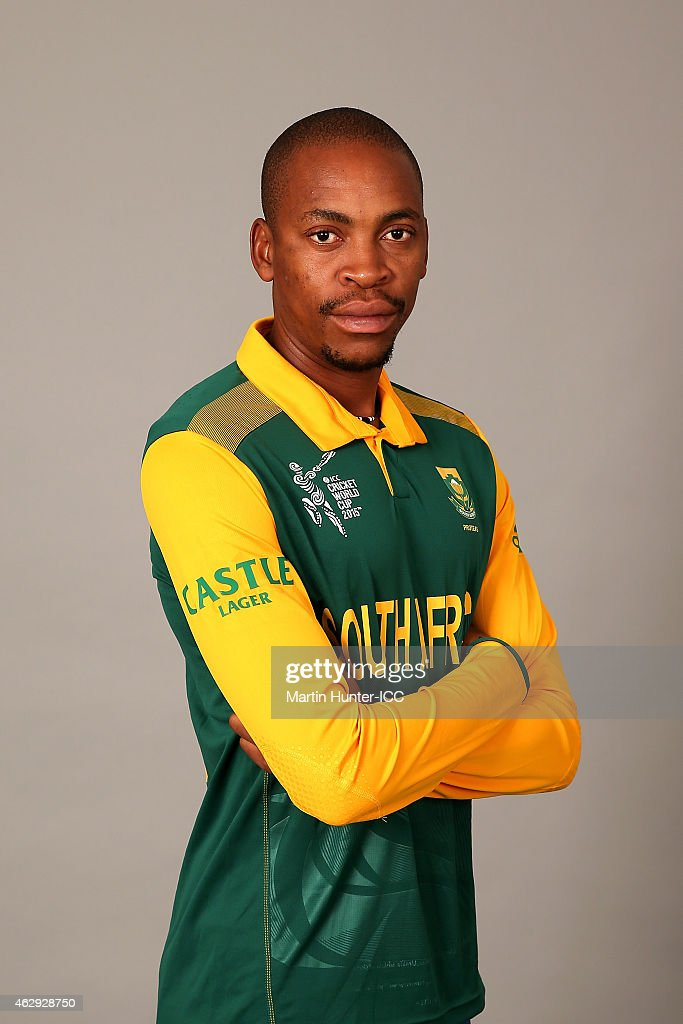 <a gi-track='captionPersonalityLinkClicked' href=/galleries/search?phrase=Aaron+Phangiso&family=editorial&specificpeople=7184692 ng-click='$event.stopPropagation()'>Aaron Phangiso</a> poses during the South Africa 2015 ICC Cricket World Cup Headshots Session at the Rydges Latimer on February 7, 2015 in Christchurch, New Zealand.