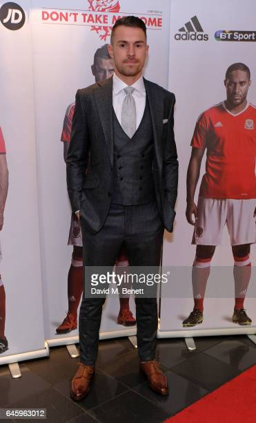 Aaron Ramsey attends the UK Premiere of 'Don't Take Me Home' on February 27 2017 in London England