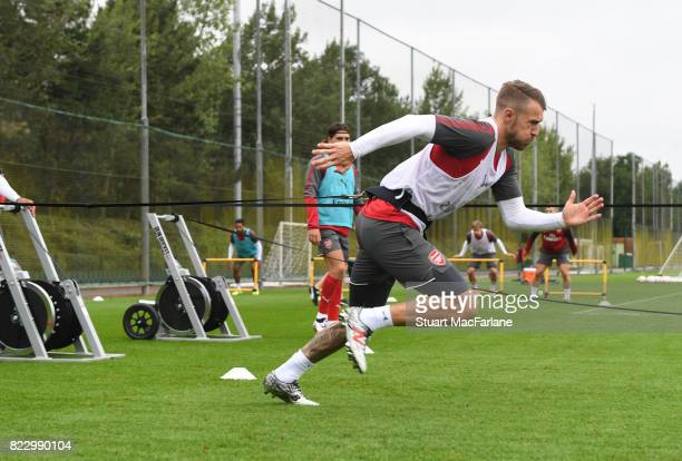 Aaron Ramsey of Arsenal during a training session at London Colney on July 26 2017 in St Albans England