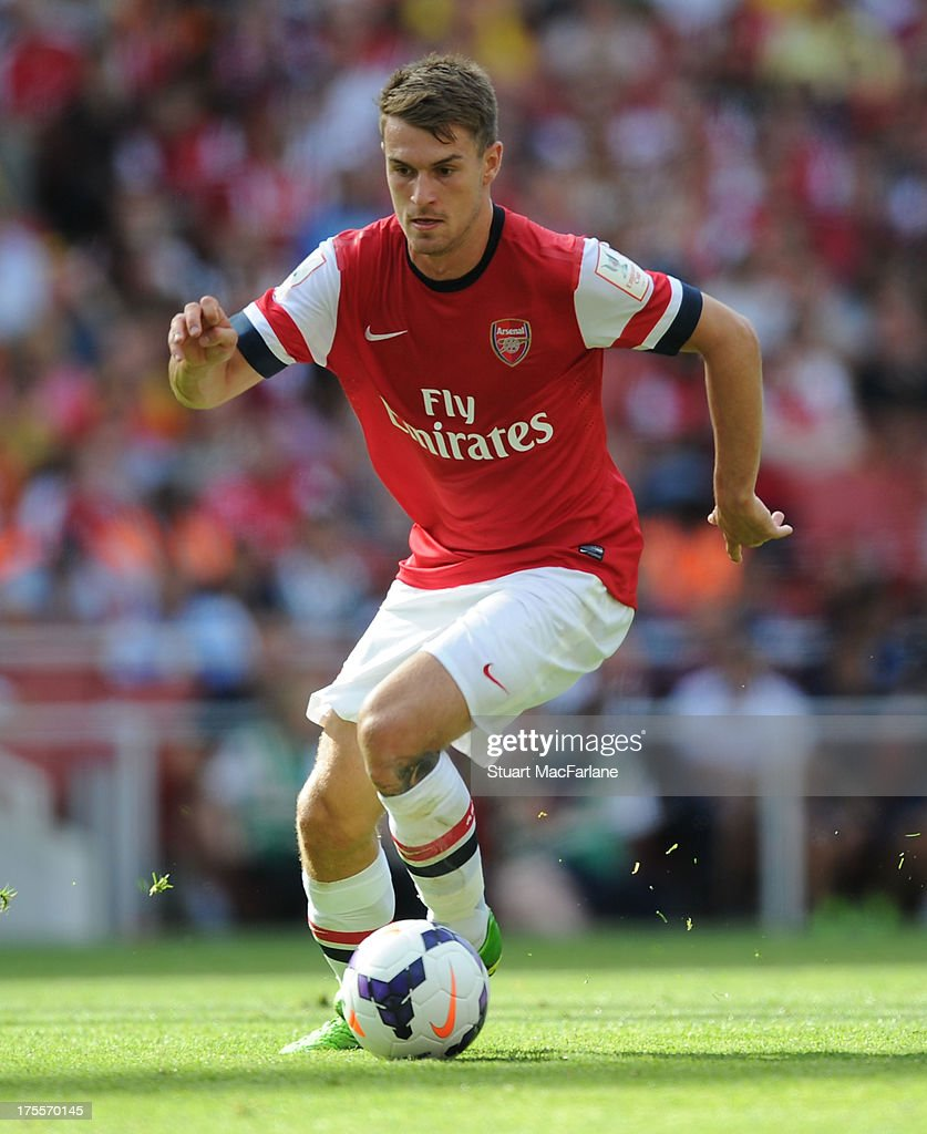 Aaron Ramsey of Arsenal during the Emirates Cup match between Arsenal and Galatasaray at the Emirates Stadium on August 04, 2013 in London, England.