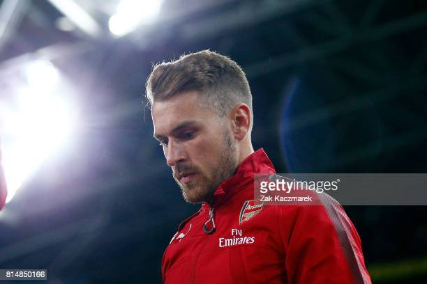 Aaron Ramsey of Arsenal enters the field of play during the match between the Western Sydney Wanderers and Arsenal FC at ANZ Stadium on July 15 2017...