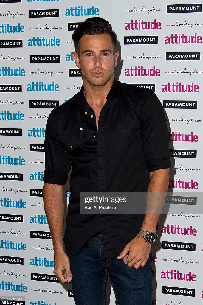 Aaron Renfree attends the Attitude Magazine Hot 100 party at Paramount Club on July 16, 2014 in London, England.