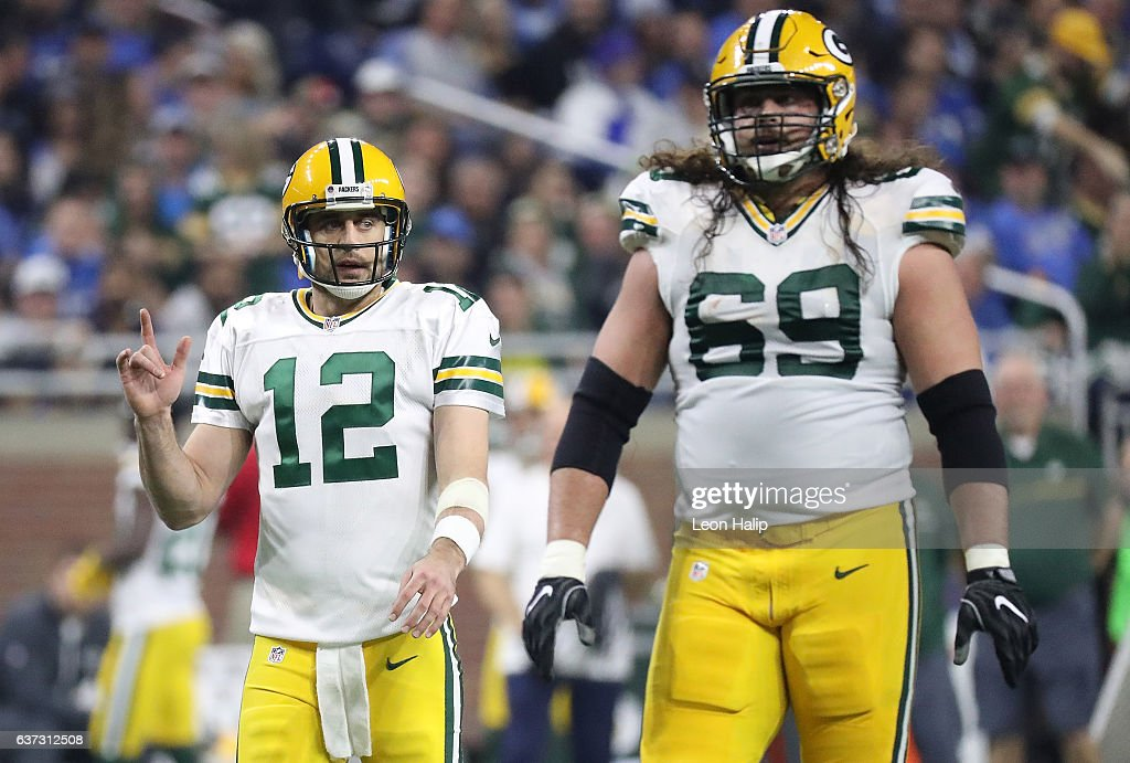 ... Aaron Rodgers 12 and David Bakhtiari 69 of the Green Bay Packers walk  to Nike Limited ... 019abd02b