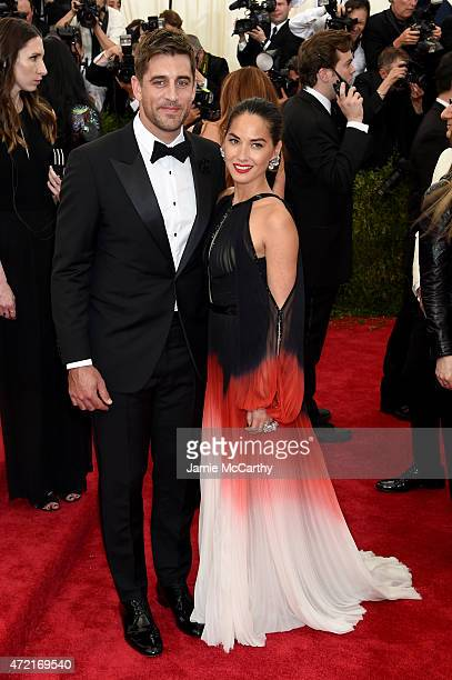 Aaron Rodgers and Olivia Munn attend the 'China Through The Looking Glass' Costume Institute Benefit Gala at the Metropolitan Museum of Art on May 4...