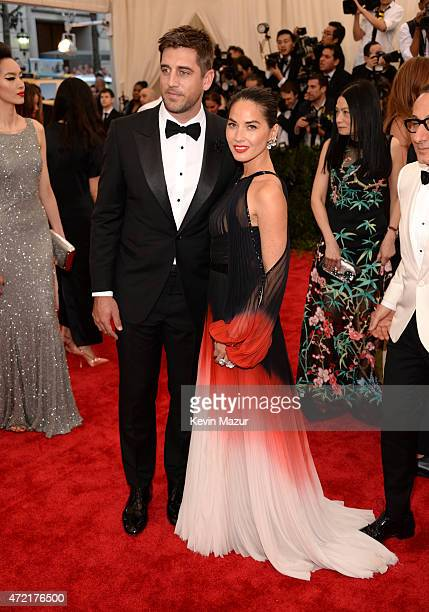 Aaron Rodgers and Olivia Munn attend the 'China Through The Looking Glass' Costume Institute Benefit Gala at Metropolitan Museum of Art on May 4 2015...