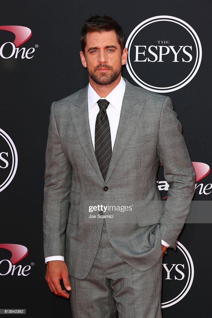Aaron Rodgers at the 2017 ESPYS at Microsoft Theater on July 12, 2017 in Los Angeles, California.