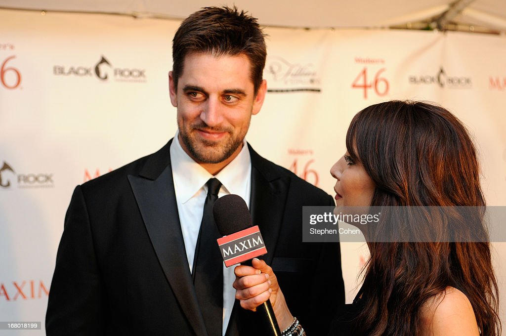 Aaron Rodgers attend the Maxim And Maker's 46 Fillies & Stallions Hosted By Blackrock at Mellwood Arts & Entertainment Center on May 3, 2013 in Louisville, Kentucky.