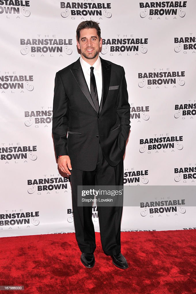 Aaron Rodgers attends the 2013 Barnstable-Brown Derby gala at Barnstable-Brown House on May 3, 2013 in Louisville, Kentucky.