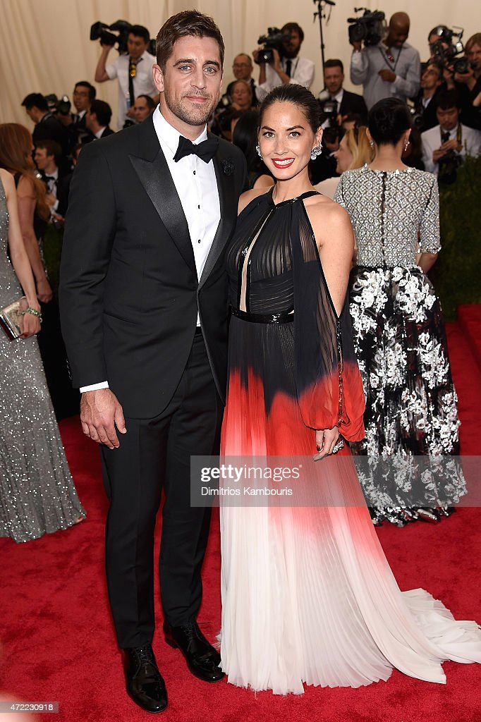 Aaron Rogers and Oliva Munn attend the 'China: Through The Looking Glass' Costume Institute Benefit Gala at the Metropolitan Museum of Art on May 4, 2015 in New York City.