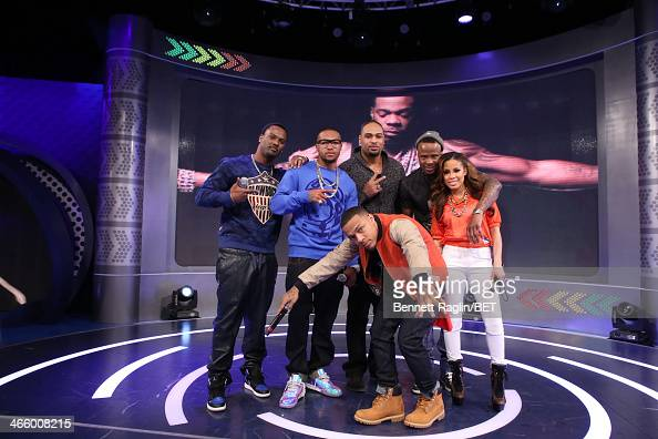 Aaron Ross DeSean Jackson Bow Wow Raheem Brock Keshia Chanteand Ike Taylor attend 106 Park at BET studio on January 30 2014 in New York City