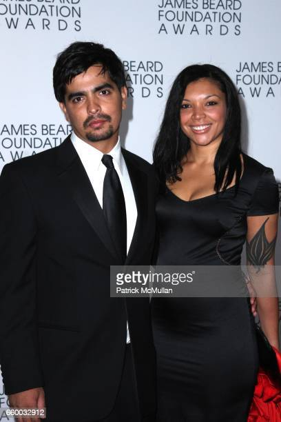 Aaron Sanchez and Ife Sanchez Mora attend The 2009 JAMES BEARD FOUNDATION AWARDS at Avery Fisher Hall at Lincoln Center on May 4 2009 in New York City