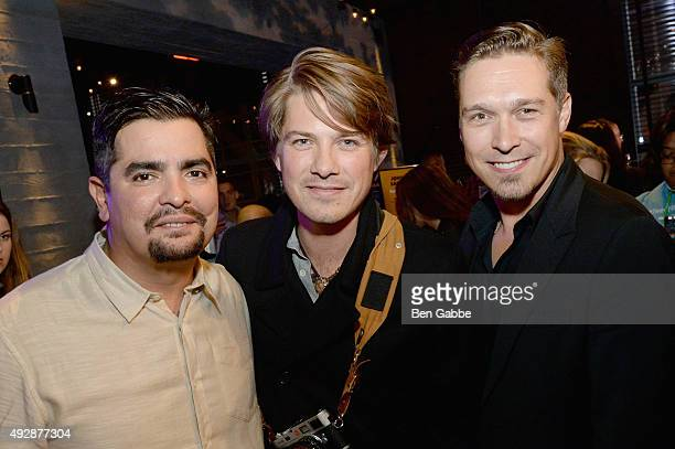 Aaron Sanchez Taylor Hanson and Isaac Hanson attend Tacos Tequila presented by Mexico hosted by Aaron Sanchez during Food Network Cooking Channel New...