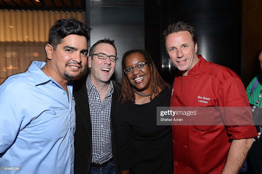 <a gi-track='captionPersonalityLinkClicked' href=/galleries/search?phrase=Aaron+Sanchez+-+Chef&family=editorial&specificpeople=4478498 ng-click='$event.stopPropagation()'>Aaron Sanchez</a>, <a gi-track='captionPersonalityLinkClicked' href=/galleries/search?phrase=Ted+Allen&family=editorial&specificpeople=204146 ng-click='$event.stopPropagation()'>Ted Allen</a>, TWC executive Imani Breaker and Marc Murphy attend the 'Chopped' Event at Landmarc on October 11, 2012 in New York City.