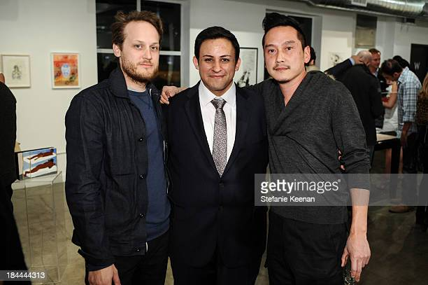Aaron Sandnes Cesar Garcia and Glenn Kaino attend The Mistake Room's Benefit Auction on October 13 2013 in Los Angeles California