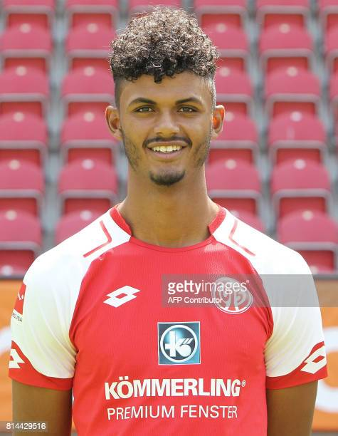 Aaron Seydel from German first division Bundesliga football team FSV Mainz 05 poses for a photo in Mainz Germany on July 14 2017 / AFP PHOTO / Daniel...