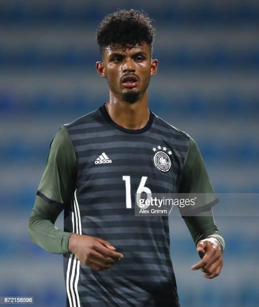 Aaron Seydel of Germany reacts during the UEFA Under21 Euro 2019 Qualifier match between Azerbaijan U21 and Germany U21 at Dalga Arena on November 9...