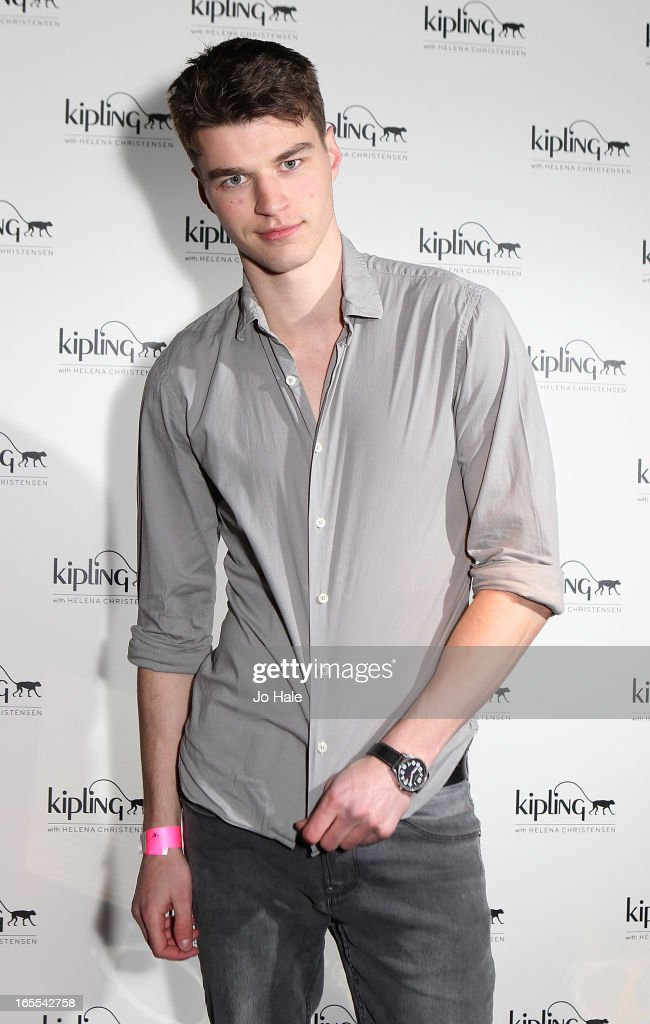 Aaron Sly model attends the launch of new hangbag collection 'Kipling x Helena Christensen' at Beach Blanket Babylon on April 4, 2013 in London, England.