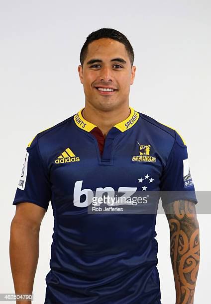 Aaron Smith of the Highlanders poses during a Highlanders Super Rugby headshots session on January 30 2015 in Dunedin New Zealand