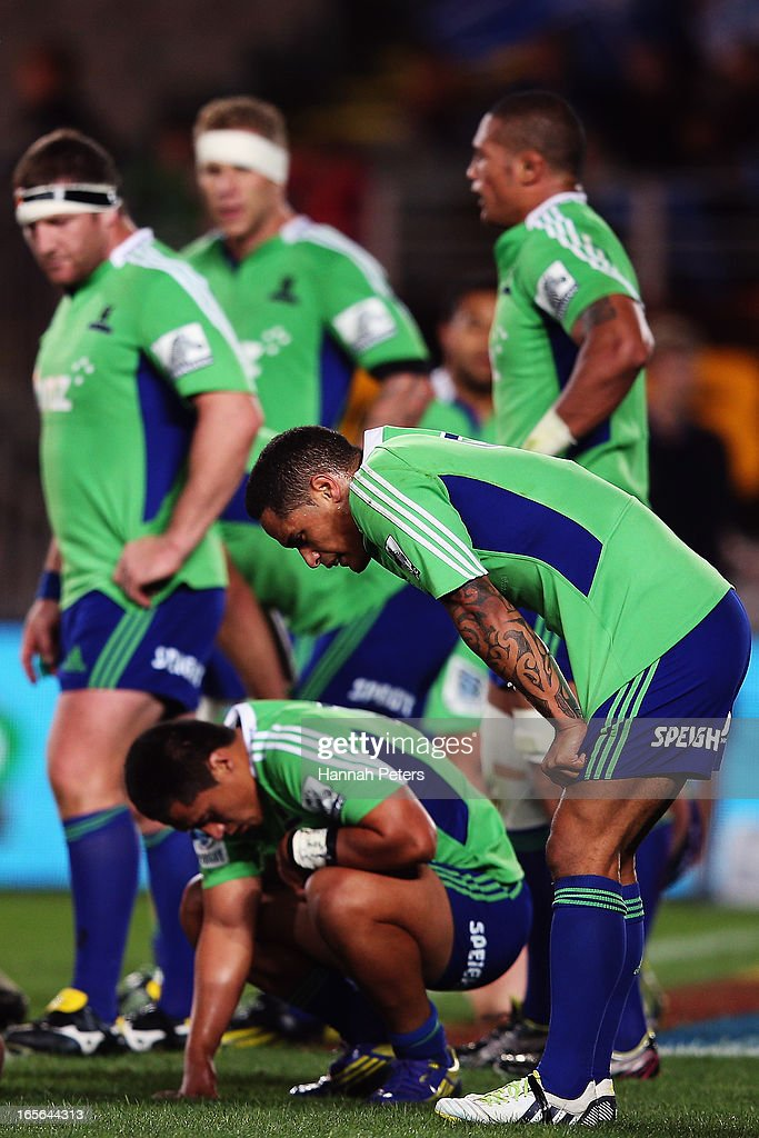 Aaron Smith of the Highlanders shows his disappointment after losing the round eight Super Rugby match between the Blues and the Highlanders at Eden Park on April 5, 2013 in Auckland, New Zealand.