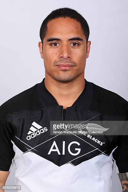 Aaron Smith poses during the All Blacks End of Year Tour 2016 Headshots Session at Auckland International Airport Novotel on October 28 2016 in...