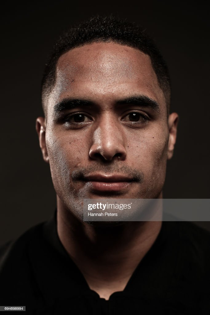 Aaron Smith poses for a portrait during the New Zealand All Blacks Headshots Session on June 11, 2017 in Auckland, New Zealand.