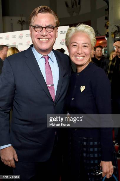 Aaron Sorkin and CCO of STX Films Patricia Rockenwagner attend the screening of 'Molly's Game' at the Closing Night Gala at AFI FEST 2017 Presented...