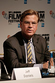 Aaron Sorkin attends the 'Steve Jobs' Press Conference during the BFI London Film Festival at the Mayfair Hotel on October 18 2015 in London England