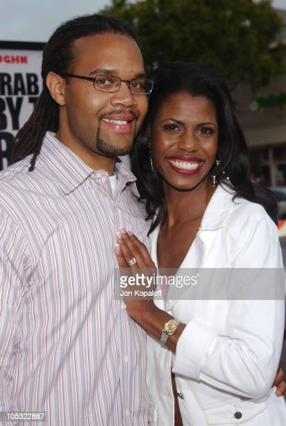 Aaron Stallworth and Omarosa ManigaultStallworth during 'DodgeBall A True Underdog Story' World Premiere Arrivals at Mann Village Theatre in Westwood...