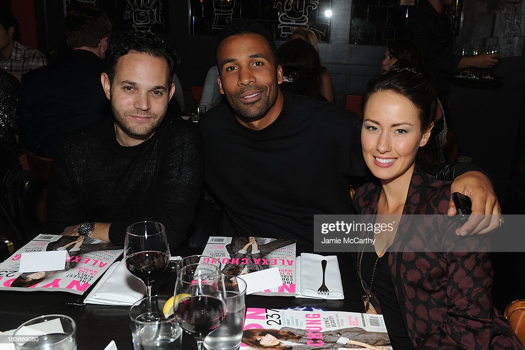 Aaron Stern, Matte Babel and Liz Walaszczyk attend NYLON + Sanuk celebrate the October 'It Girl' issue with cover star Alexa Chung at La Cenita on October 8, 2013 in New York City.