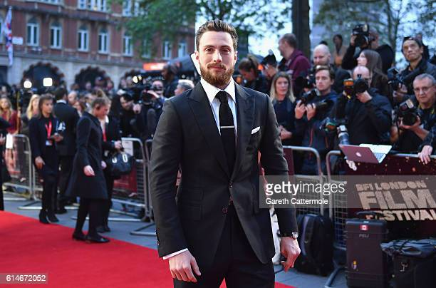 Aaron TaylorJohnson attends the 'Nocturnal Animals' Headline Gala screening during the 60th BFI London Film Festival at Odeon Leicester Square on...