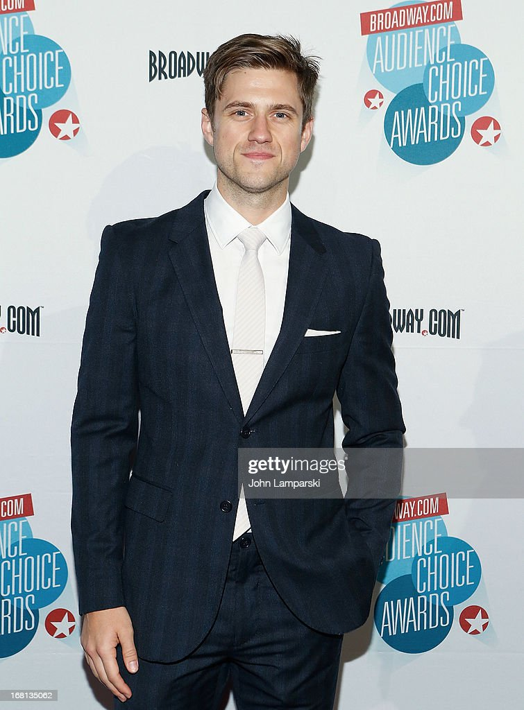<a gi-track='captionPersonalityLinkClicked' href=/galleries/search?phrase=Aaron+Tveit&family=editorial&specificpeople=884274 ng-click='$event.stopPropagation()'>Aaron Tveit</a> attends The 2013 Broadway.com Audience Choice Awards at Jazz at Lincoln Center on May 5, 2013 in New York City.