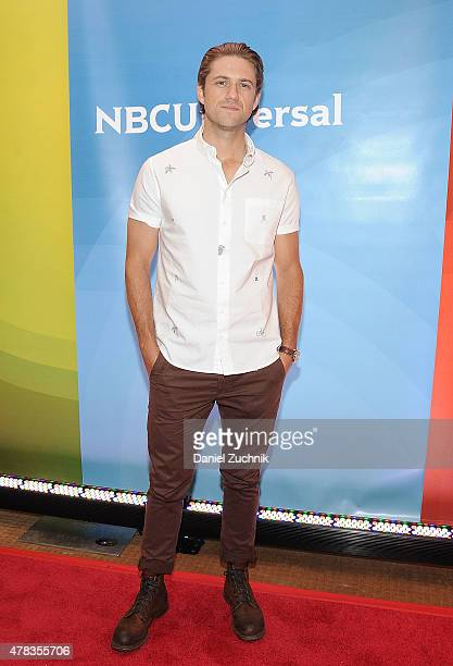 Aaron Tveit attends the 2015 NBC New York Summer Press Day at Four Seasons Hotel New York on June 24 2015 in New York City