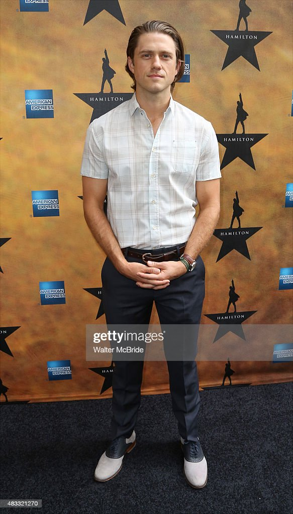Aaron Tveit attends the Broadway Opening Night Performance of 'Hamilton' at the Richard Rodgers Theatre on August 6, 2015 in New York City.