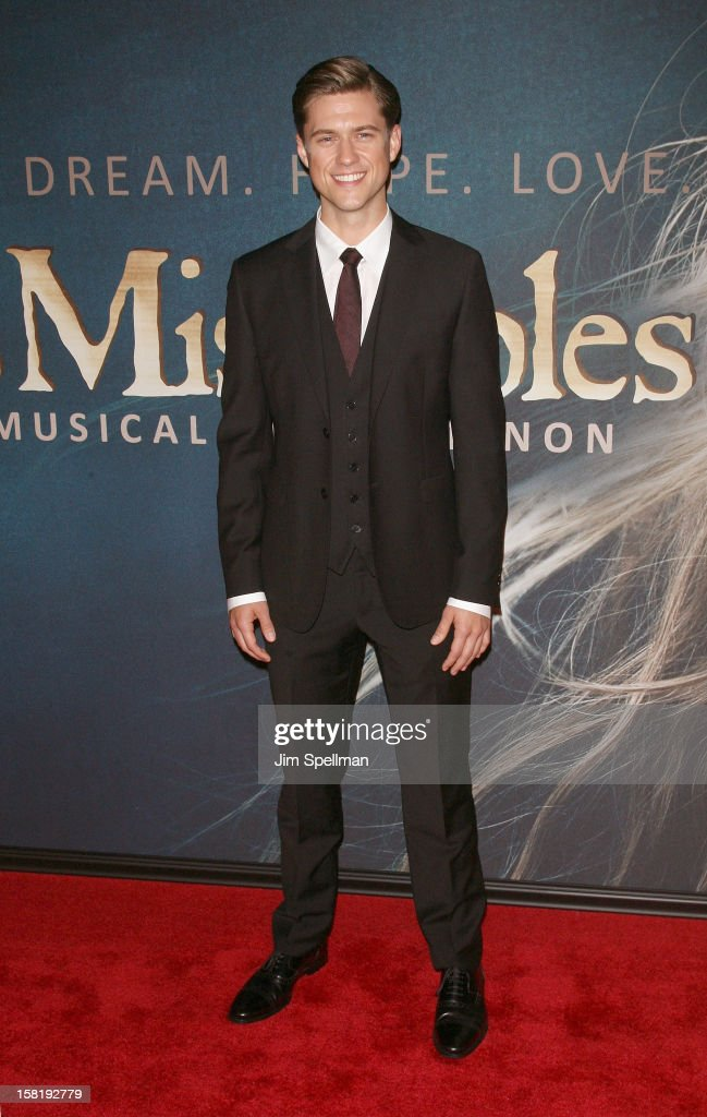 Aaron Tveit attends the 'Les Miserables' New York Premiere at Ziegfeld Theatre on December 10, 2012 in New York City.