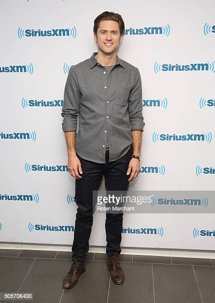 Aaron Tveit visits at SiriusXM Studios on January 15 2016 in New York City