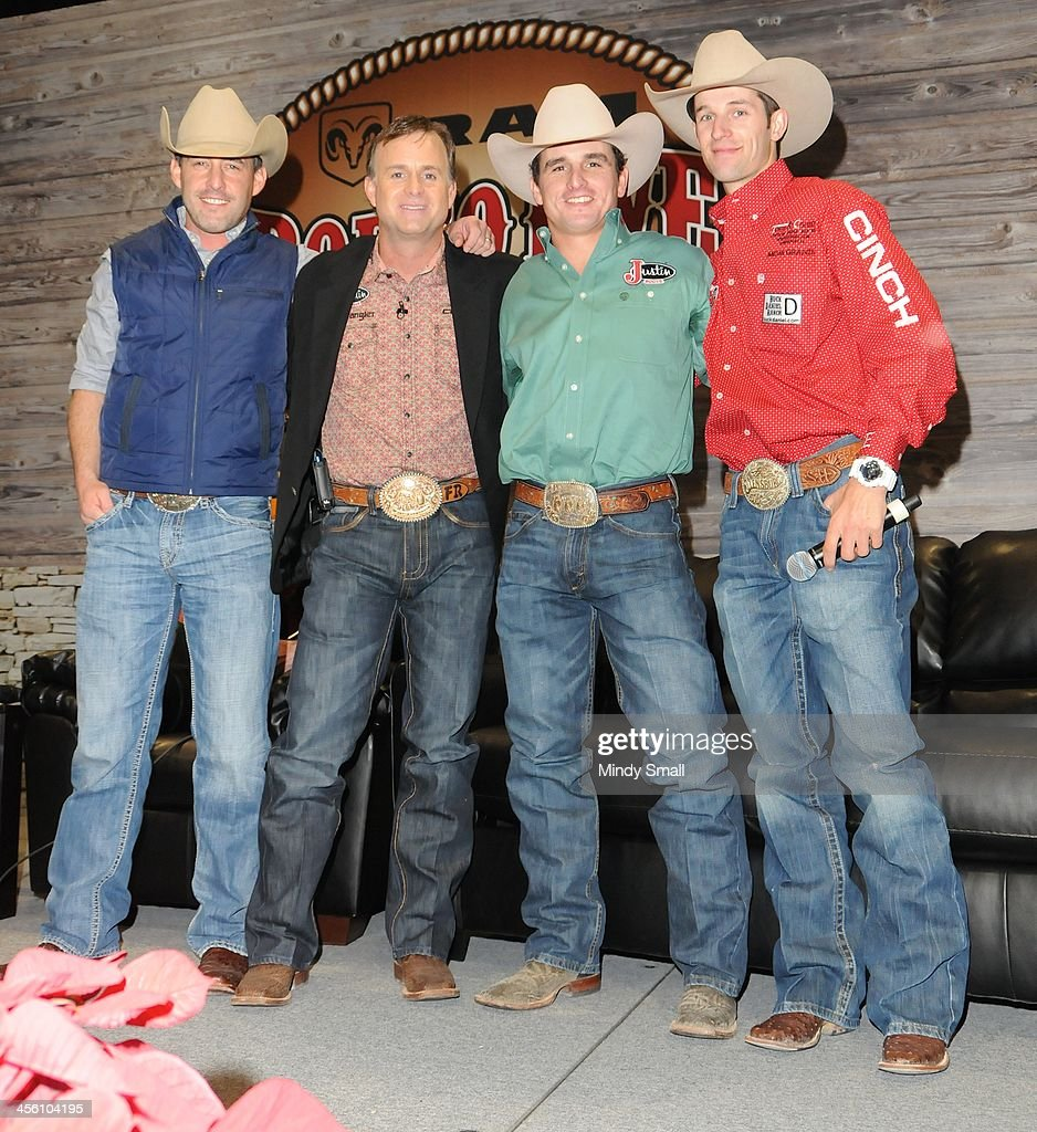 Aaron Watson, Flint Rasmussen, Ryan Gray and Shane Hanchey attend Cowboy FanFest during the Wrangler National Finals Rodeo at the on December 13, 2013 in Las Vegas, Nevada.