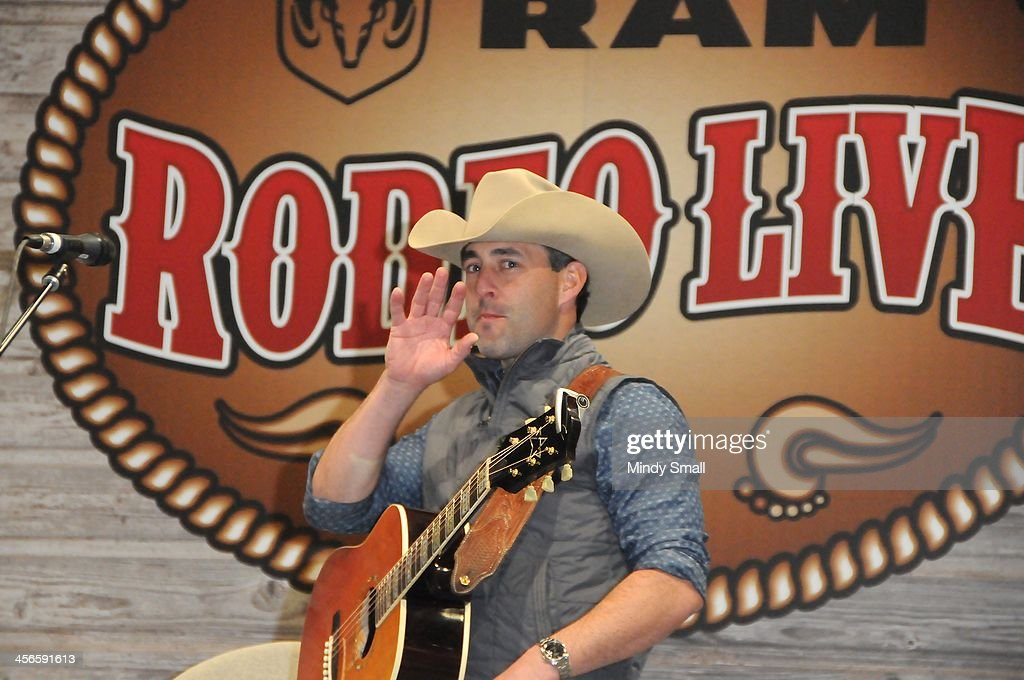 Aaron Watson performs at Cowboy FanFest during the Wrangler National Finals Rodeo at the on December 14, 2013 in Las Vegas, Nevada.