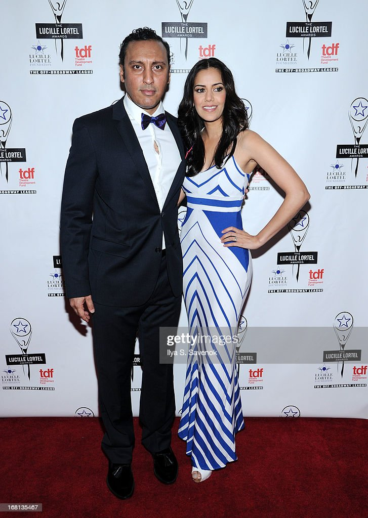 Aasif Mandvi and Sheetal Sheth attend the 28th Annual Lucille Lortel Awards at NYU Skirball Center on May 5, 2013 in New York City.