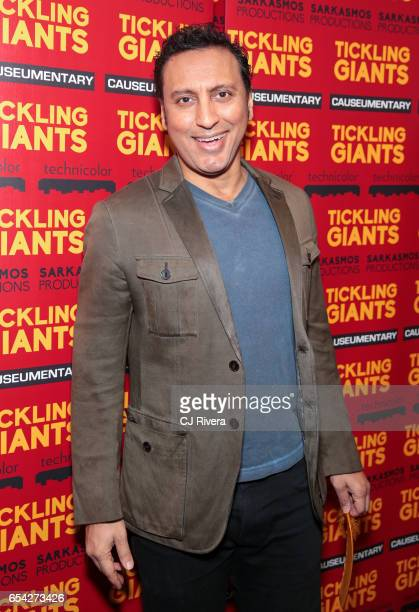 Aasif Mandvi attends 'Tickling Giants' New York premiere at IFC Center on March 16 2017 in New York City