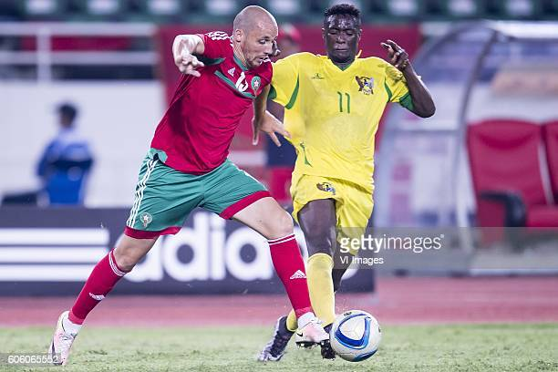 Aatif Chahechouhe of Morocco Harramiz Quieta Ferreira Soares of Sao Tome e Principe during the Africa Cup of Nations match between Morocco and Sao...